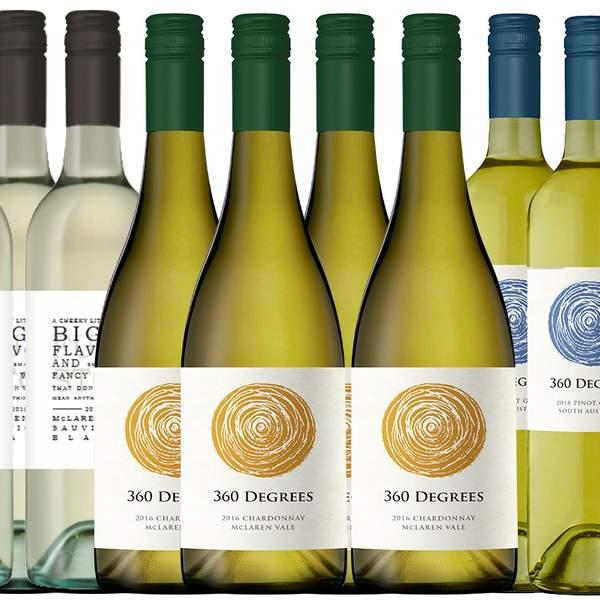 Boasting a classic McLaren Vale Sauvignon Blanc, a buttery Chardonnay, and a Pinot Grigio with aromas...