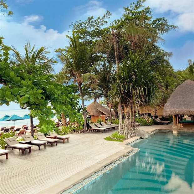 Relax and unwind at Novotel Bali Benoa, a beachfront resort on the scenic Tanjung Benoa peninsula, just...