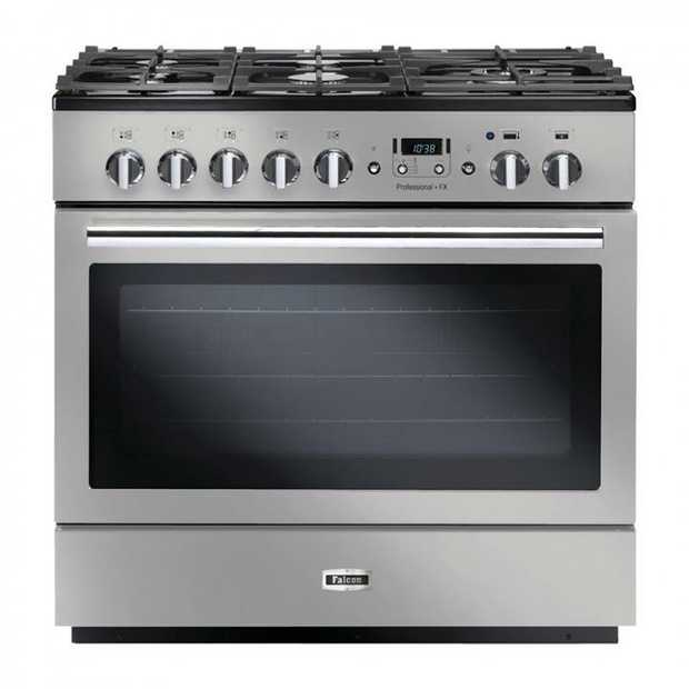 114L oven capacity Single drop down oven Built-in electric grill 5 Gas burners Multi ring wok burner ...