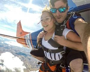 Get your heart racing with a 12,000ft tandem skydive over South Australias picturesque coast at Basham...