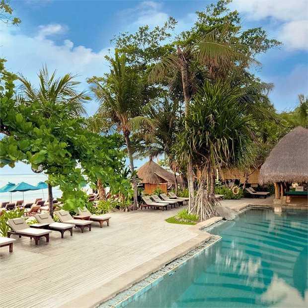 Relax and unwind at Novotel Bali Benoa, a beachfront resort on the scenic Tanjung Benoa peninsula, just...