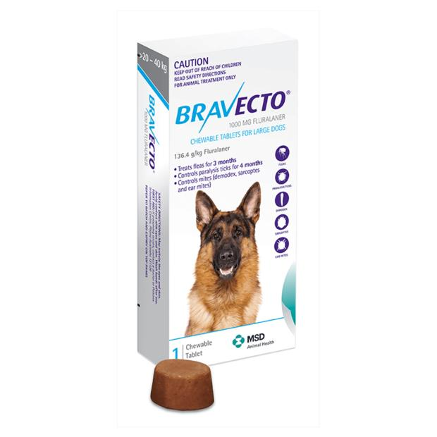 bravecto large dog blue  2 pack | Bravecto dog Flea&Tick; Control | pet supplies| Product Information:...