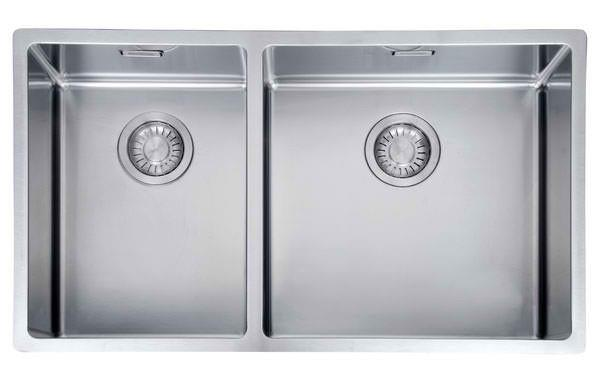 34L/24L left/right bowl capacity Stainless steel Semi integrated waste Overflow Flushmount/undermount...