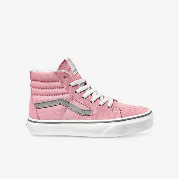 A lightweight, lace-up, high top shoe, the Vans Kids Pop Sk8-Hi features heel cushioning for extra...