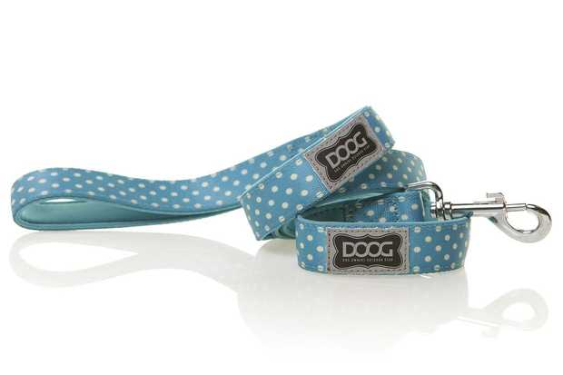 The Doog Snoopy Lead Blue & White Polkadot is a stylish and functional lead you and your dog will...