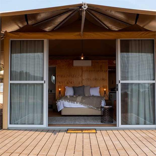 Experience nature without having to forgo home comforts amid Kangaroo Island's serene beaches, stunning...
