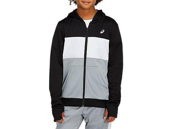 The BRUSHED FLEECE FULL ZIP HOODIE full-zip hooded top by ASICS is a great basic for any athlete's...