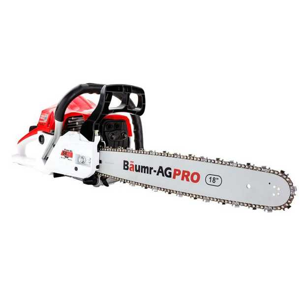 Fire up the Baumr-AG SX45 Mk II Chainsaw and let the power of its 45cc engine and direct injection...