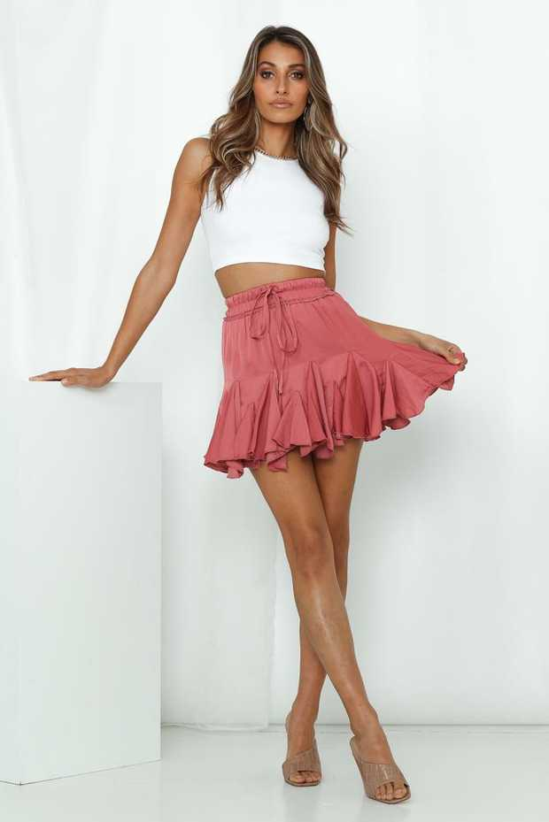Length from waist to hem of size S: 41cm.