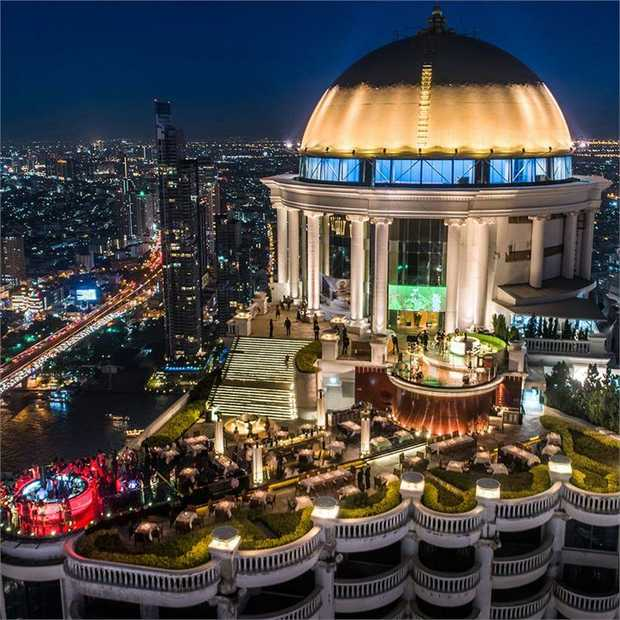 Experience five-star luxury perched high above the pulsing streets of Bangkok at Tower Club at Lebua.