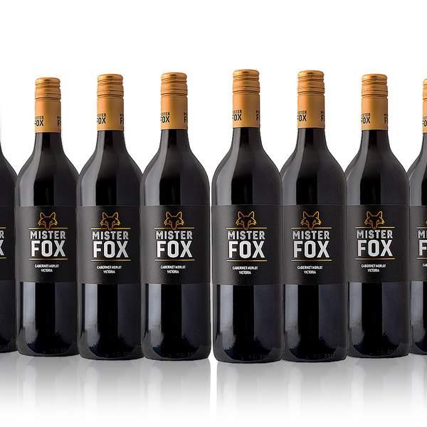 Make like a quick, brown fox and jump over to 'Buy Now' for a dozen bottles of 'Mister Fox' Cabernet...