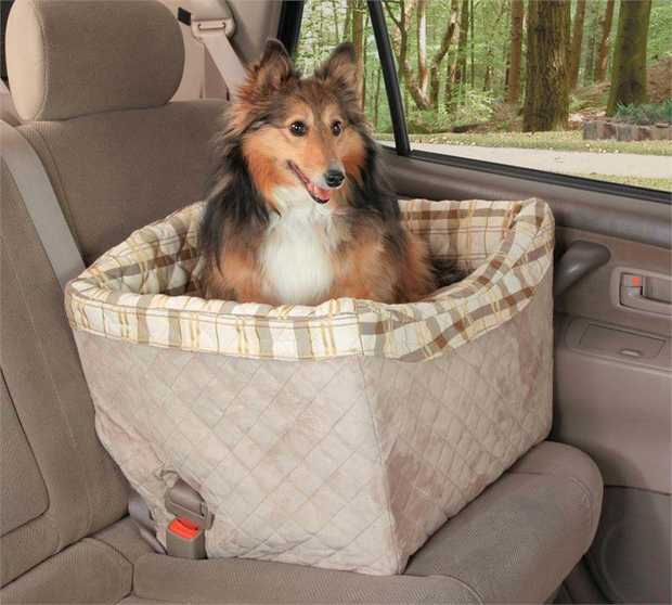 Petsafe Happy Ride (prev. Solvit) Quilted Jumbo On-Seat Booster Safety Seat for Dogs