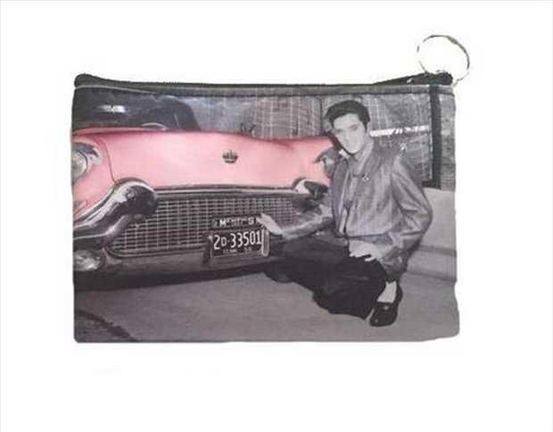 Elvis Make Up Bag w/Car 15.75cm X 12.20cm
