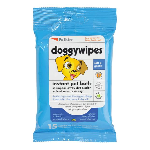 petkin doggy wipes  15 pack | Petkin dog | pet supplies| Product Information: petkin-doggy-wipes