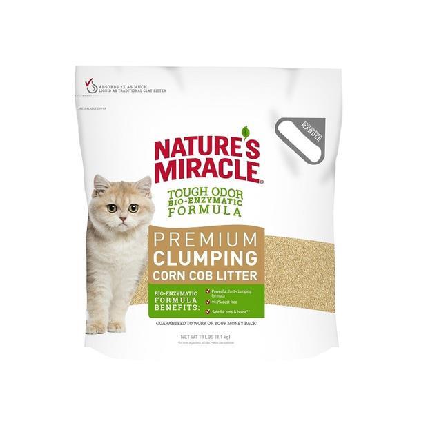 natures miracle premium clumping corn cob cat litter  8kg | Natures Miracle cat | pet supplies| Product...