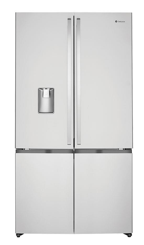 411L Fridge/189L Freezer Hidden hinges Adjustable front rollers Rear rollers Egg tray Door alarm...