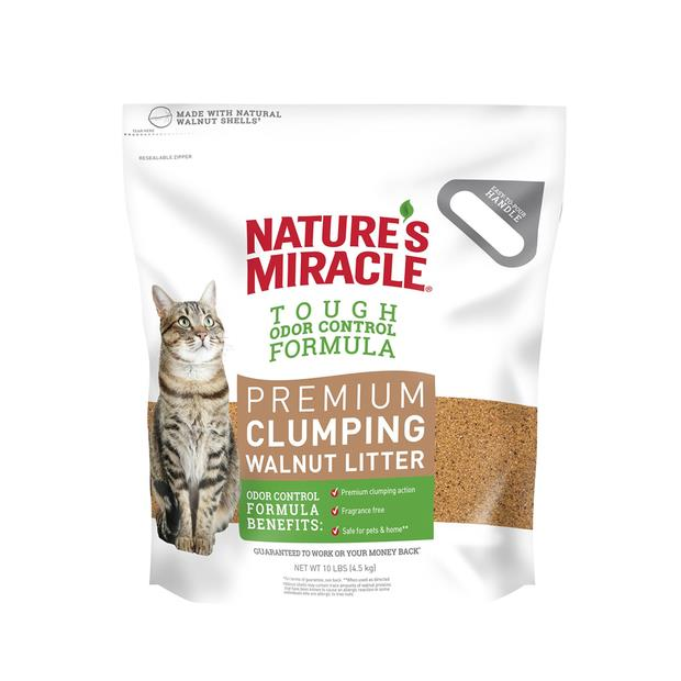 natures miracle premium clumping walnut cat litter  4.5kg | Natures Miracle cat | pet supplies| Product...