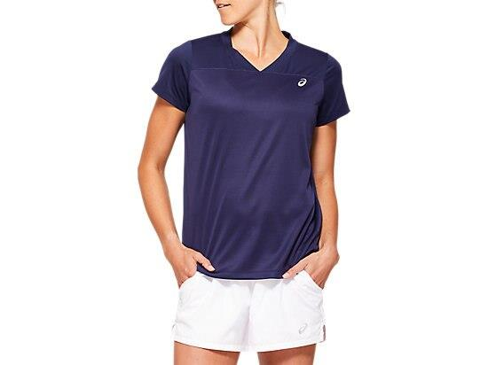 Prepare for your next match in the PRACTICE GPX TEE tennis top by ASICS with mesh on the sleeve and...