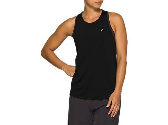 The RACE SLEEVELESS top offers a sleek form-fitting design, made from lightweight French terry fabric...