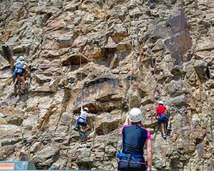 Challenge yourself with this outdoor rock climbing experience on the 20 metre high Kangaroo Point...