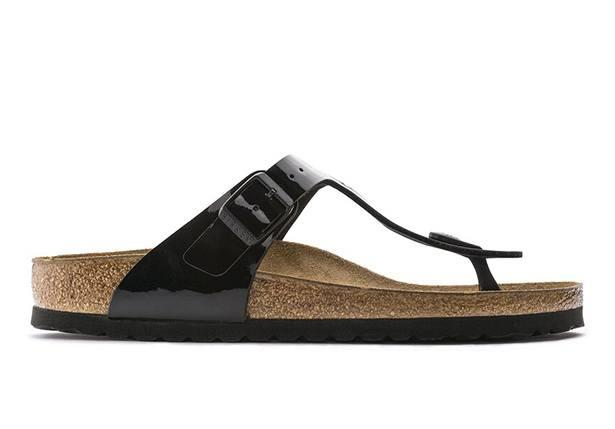 The modern Gizeh sandal by Birkenstock is your next everyday essential.  The orthotic footbed...