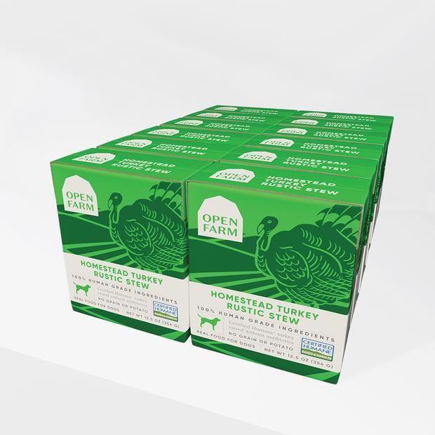 open farm turkey rustic stew wet dog food  12 x 340g | Open Farm dog food | pet supplies| Product...