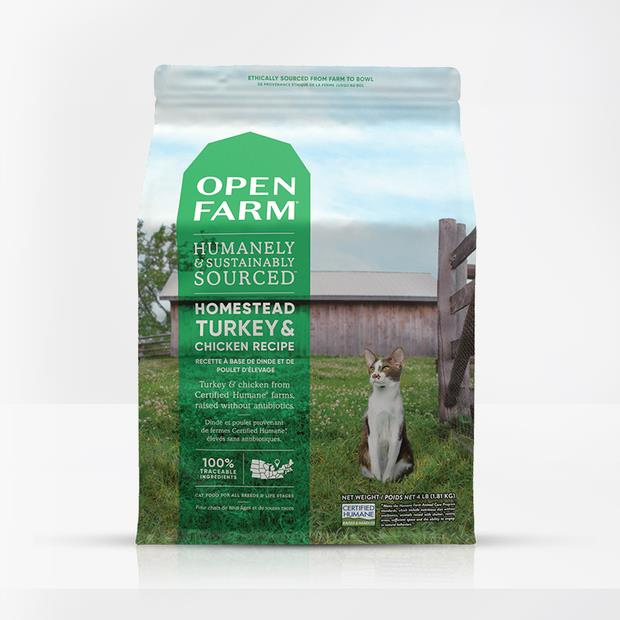 open farm homestead turkey and chicken cat dry food  3.6kg | Open Farm cat food | pet supplies| Product...
