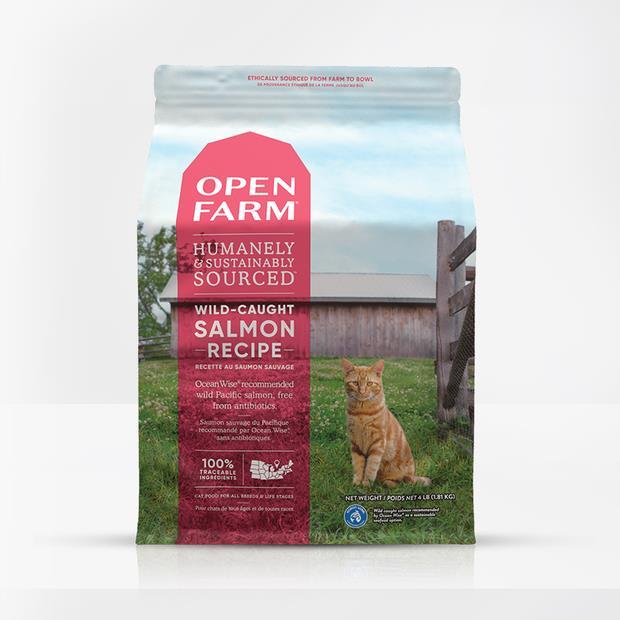 open farm wild caught salmon cat dry food  3.6kg | Open Farm cat food | pet supplies| Product...