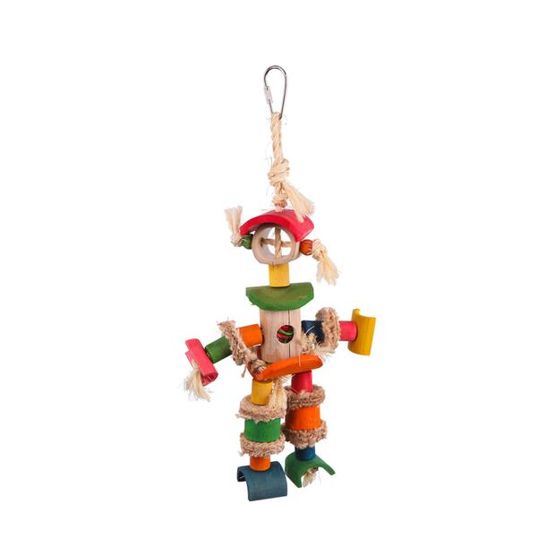 kazoo bird toy man with sisal rope and chips  medium | Kazoo toy&accessories; | pet supplies| Product...