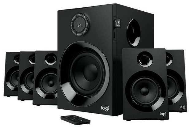 160 Watts Peak/80 Watts RMS system 5.1 Surround Sound Intuitive Controls Booming bass Compact Speakers...