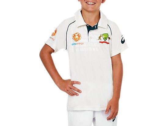 The CRICKET AUSTRALIA REPLICA TEST SHIRT features a lightweight performance polyester with symmetrical...