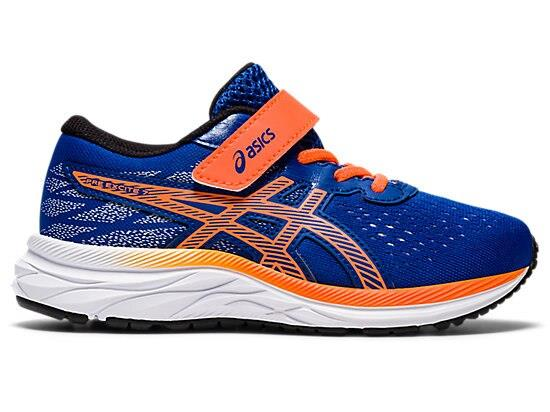 Keep growing feet happy in the ASICS kids' PRE EXCITE 7 PS performance running shoe for pre-schoolers.