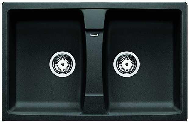 27L Bowl Capacity Designer Wastes Raised Tap Landing SILGRANIT™ PuraDur™ HYGIENE+PLUS  Cabinet Size:...