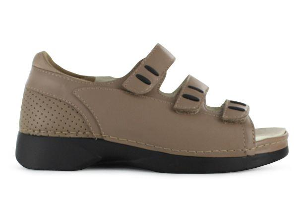 Full grain leather with velcro 3 strap adjustability. The removeable insole can easily accommodate...