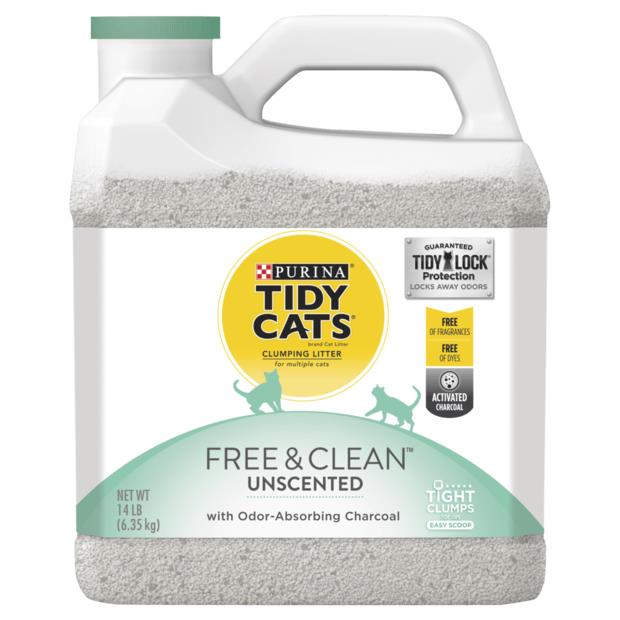 tidy cats free and clean unscented clumping litter  12.7kg | Tidy Cats cat | pet supplies| Product...