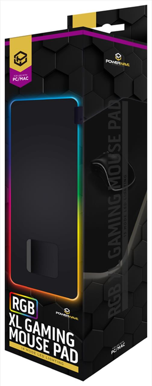 Upgrade your battle station with the Powerwave RGB XL Gaming Mouse Pad! The soft microfibre...