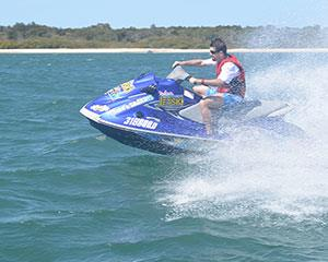 Jump on a jet ski and make a splash in the waters around Bribie Island on this one hour jet ski tour.