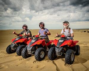 Get your adrenaline pumping out on the specially designed Stockton Sand Dune circuit. Hop on a powerful...