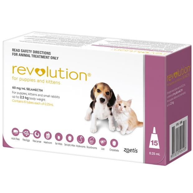 revolution puppy kitten pink  3 pack | Revolution cat dog Flea&Tick; Control | pet supplies| Product...