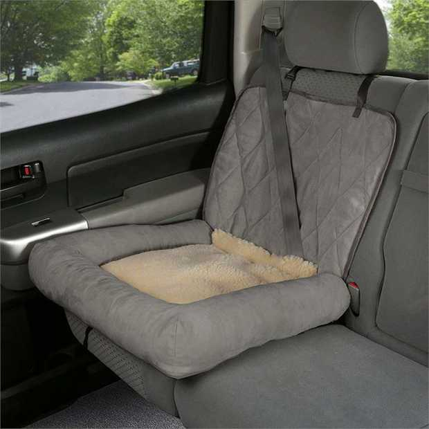 Happy Ride Car Cuddler Dog Bed and Single Car Seat Cover Protector for Cars/Trucks & SUVs