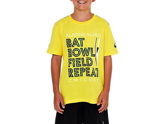 The CRICKET AUSTRALIA SUPPORTER BAT BOWL TEE - YOUTH is made from lightweight, soft jersey fabric for...