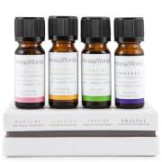 Experience relaxation at its peak with the Signature Essential Oil Set from AromaWorks. The set hosts...