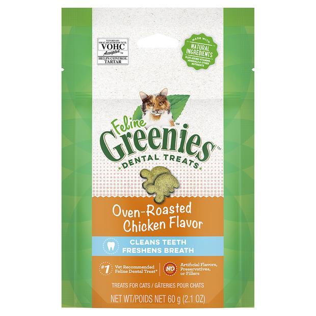 greenies cat treats dental oven roasted chicken flavour  120g   Greenies cat treat&&litter;   pet...