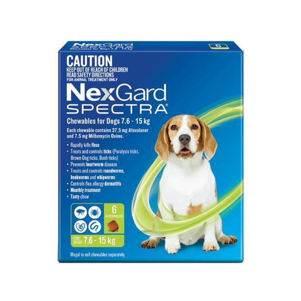 nexgard spectra medium dog  6 pack | Nexgard Spectra dog Flea&Tick; Control | pet supplies| Product...