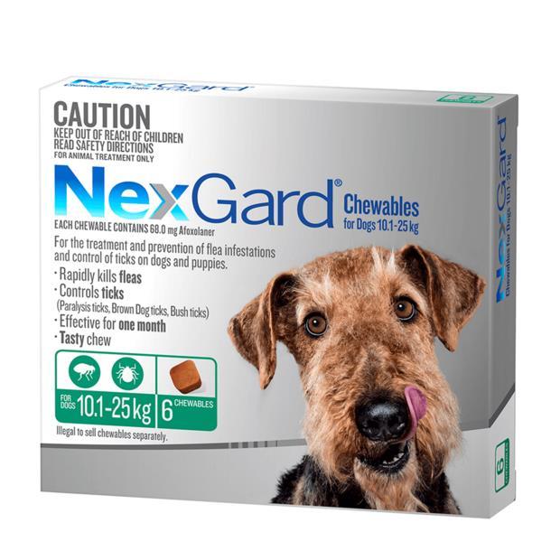 nexgard medium  6 pack | NexGard dog Flea&Tick; Control | pet supplies| Product Information: Nexgard...
