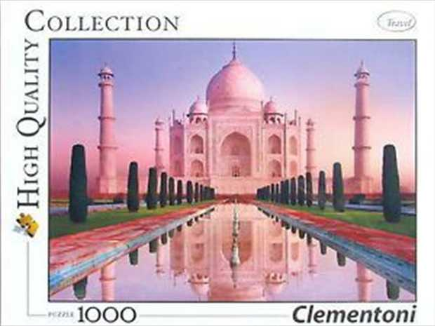 Clementoni High Quality Collection Taj Mahal Jigsaw Puzzle 1000 Piece.