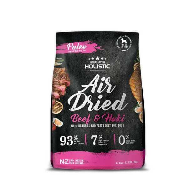 Absolute Holistic Air Dried Dog Food Beef & Hoki 1kg - Made in New Zealand