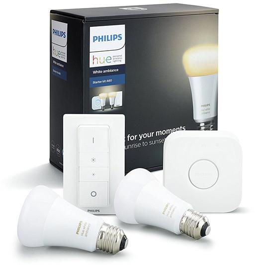 806 Lumen Bridge included Dimmer switch included Shades of white (2200-6500K) Hue dimmer switch...