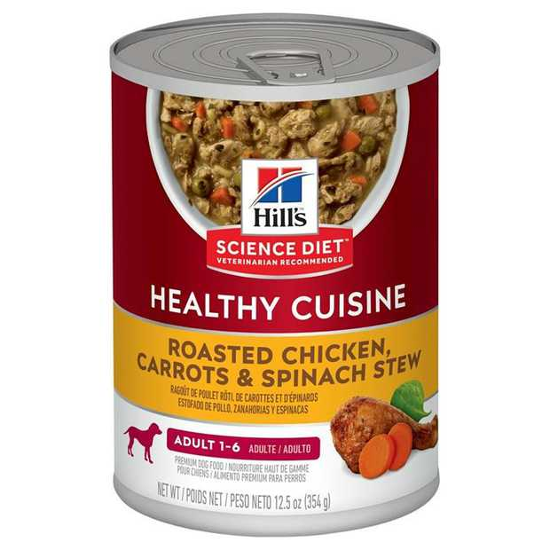 Hills Science Diet Adult Healthy Cuisine Chicken & Carrot Stew Dog Food 354g x 12 Cans
