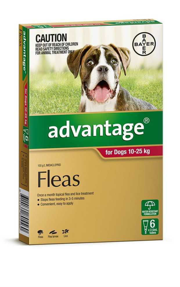 Advantage Flea Control for Dogs 10-25kg - 6-Pack